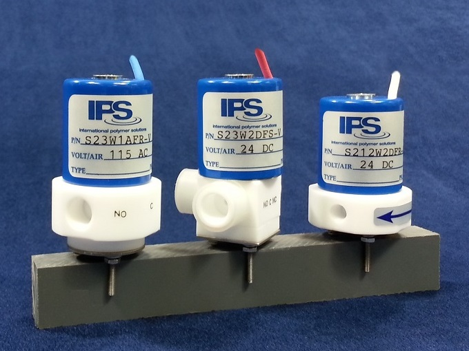 3-Way PTFE Subminiature Solenoid Valves