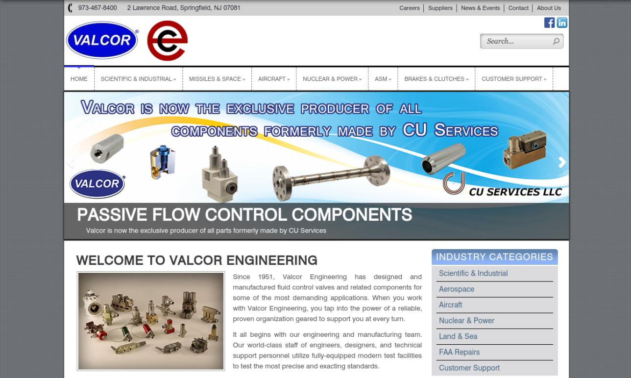 Valcor® Engineering Corp.